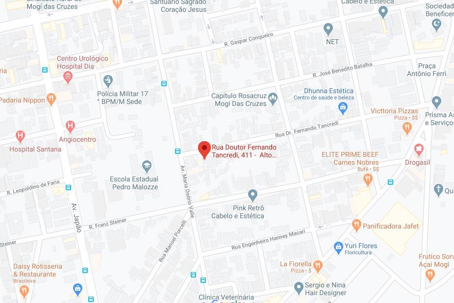 Localização da Nossa Sede
